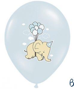 ballons bleu ciel-eléphant
