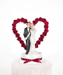 Figurine mariage-coeur rouge
