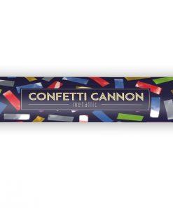 canon à confettis multicolore
