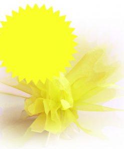 tulle cristal jaune