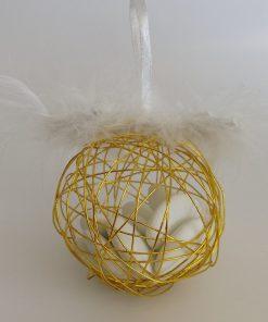boule métallique or - dragées doré