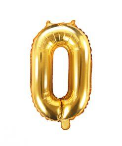 ballon chiffre lettre 0 or