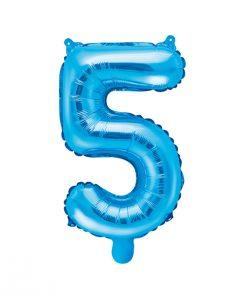 ballon chiffre 5 bleu