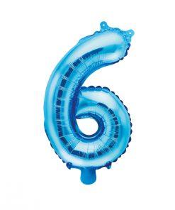 ballon chiffre 6 bleu