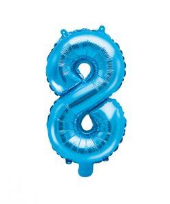 ballon chiffre 8 bleu
