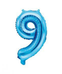 ballon chiffre 9 bleu