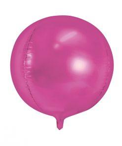 ballon rond fuchsia