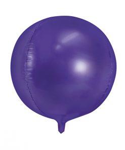 ballon rond violet