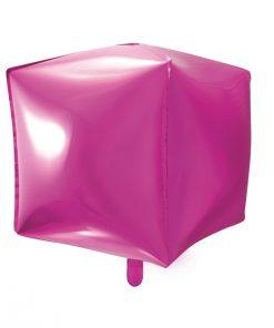ballon cube fuchsia