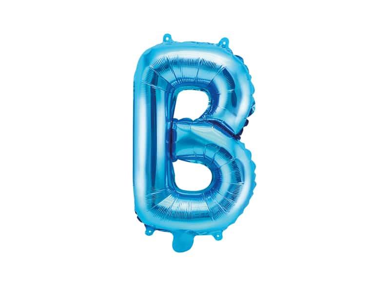 Ballon lettre B - Bleu - La Boite à Dragées