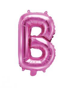 ballon lettre B rose