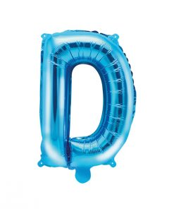 ballon lettre D bleu