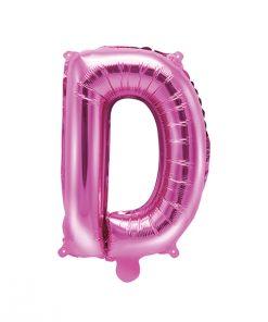 ballon lettre D rose