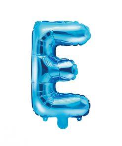 ballon lettre E bleu