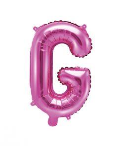 ballon lettre G rose