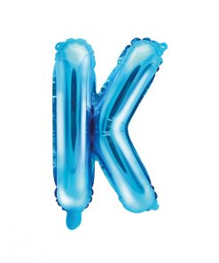 ballon lettre K bleu