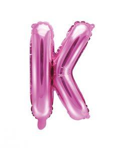 ballon lettre K rose
