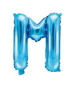 ballon lettre M bleu
