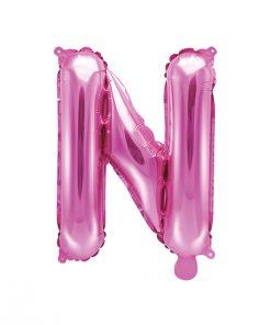 ballon lettre N rose