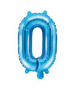 lettre ballon O bleu