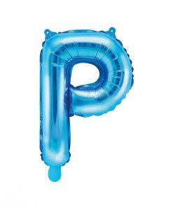 ballon lettre P bleu
