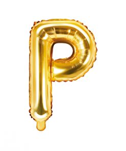 ballon lettre P or