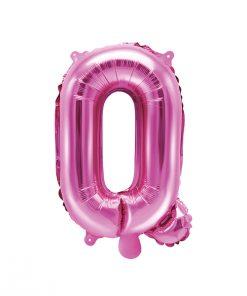 ballon lettre Q rose