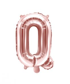 ballon lettre Q rose gold