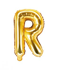 ballon lettre R or