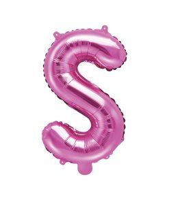 ballon lettre S rose