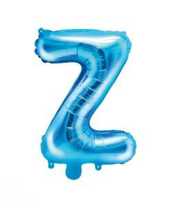 ballon lettre Z bleu
