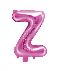 ballon lettre Z rose