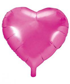 ballon coeur fuchsia