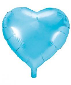ballon coeur bleu ciel