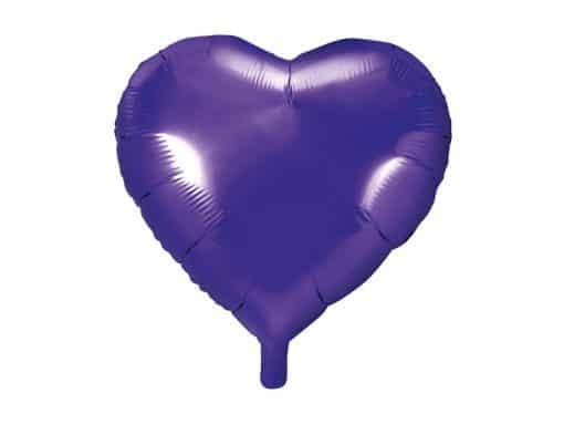 ballon coeur violet