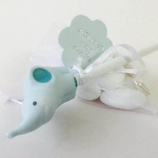 crayon elephant bleu