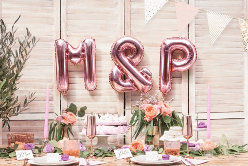 ballon lettre rose gold
