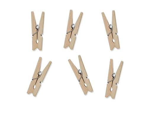 mini pince à linge marque place -bois naturel