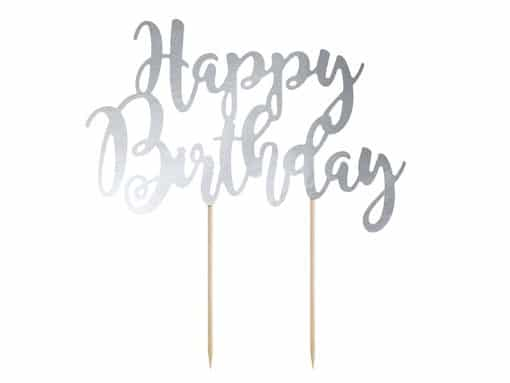 pic happy birthday argenté