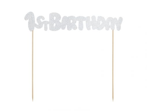 pic 1st birthday argenté