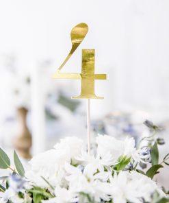 Numéro de table sur pic -or