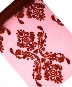 chemin de table organza bordeaux
