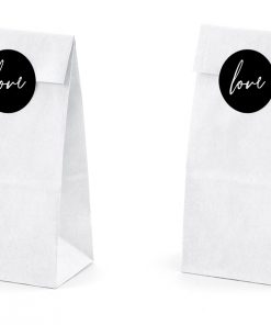 sac à dragées blanc-love-lot de 6