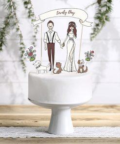topper cake romantique