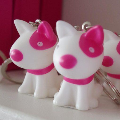 dragées chien rose fuchsia