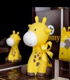 Tirelire girafe jaune