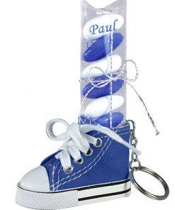 basket porte cles bleu marine dragees