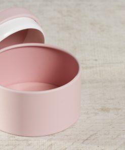 boite dragées métal rose poudré