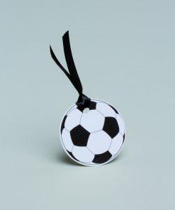 étiquette à dragées ballon de foot