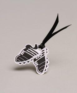 étiquette à dragées chaussures de foot